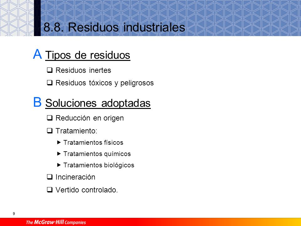 8.8. Residuos industriales