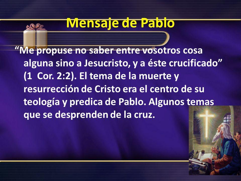 Mensaje de Pablo