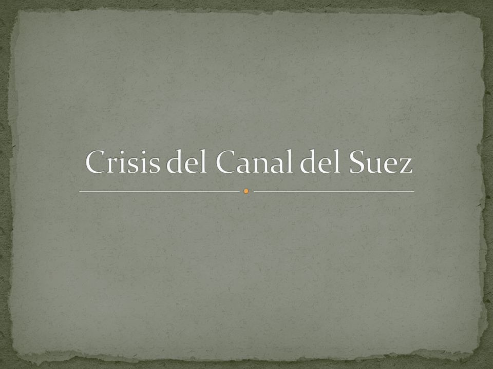 Crisis del Canal del Suez