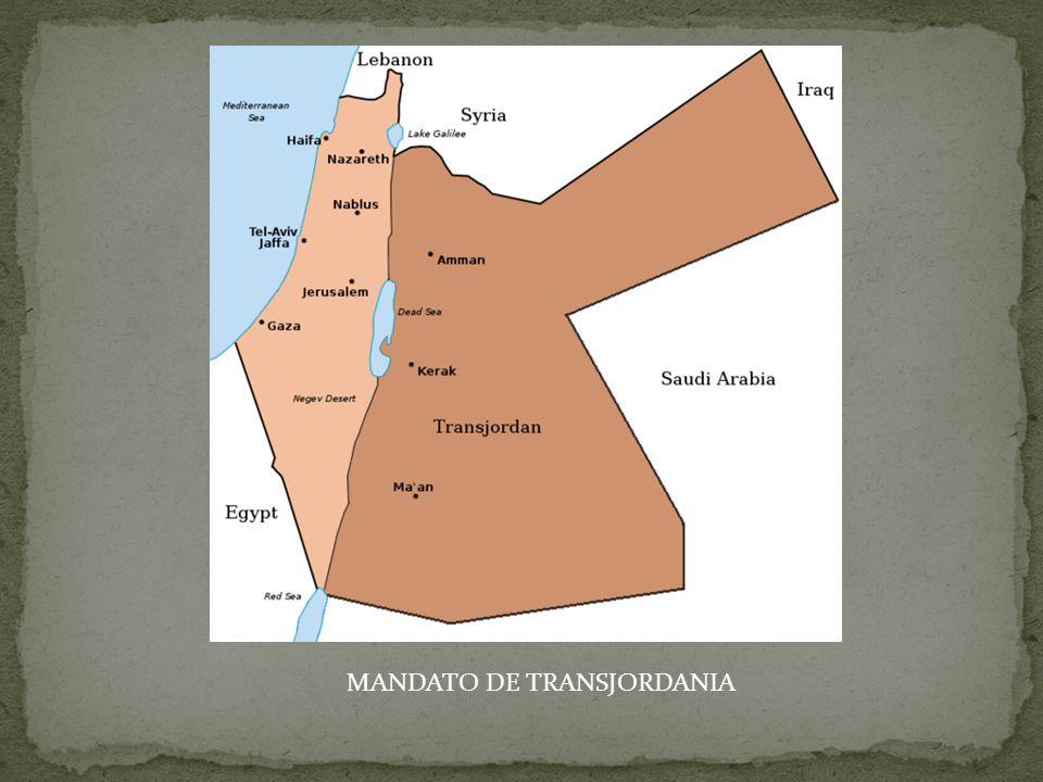 MANDATO DE TRANSJORDANIA