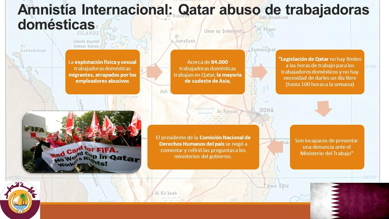 Amnistía Internacional: Qatar abuso de trabajadoras domésticas