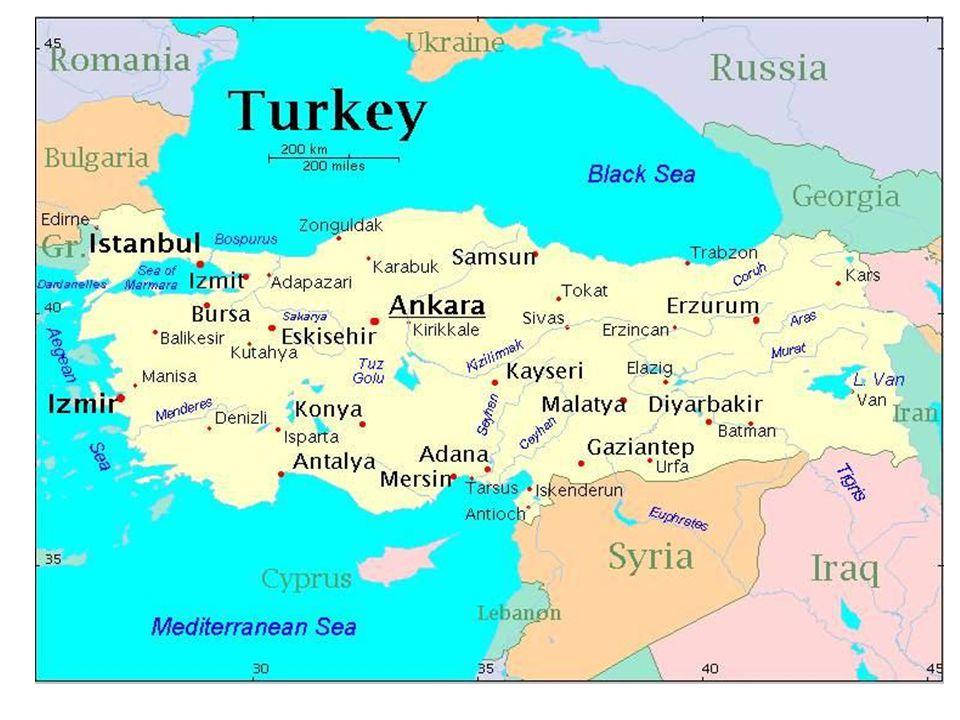 Territorio 783 562 km2 Frontera con Armenia, Azerbaiyán Bulgaria Georgia, Grrecia, Irán , Irak, Siria.