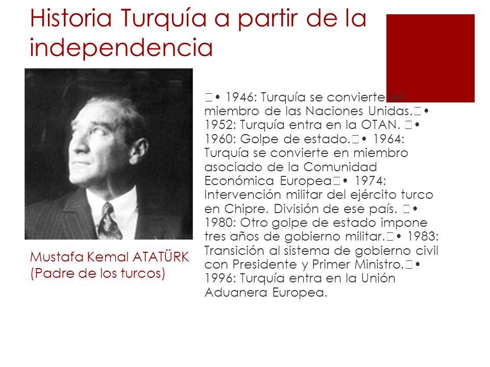Historia Turquía a partir de la independencia