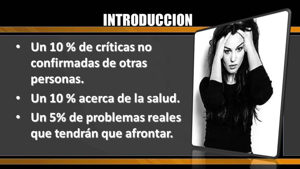 INTRODUCCION Un 10 % de críticas no confirmadas de otras personas.