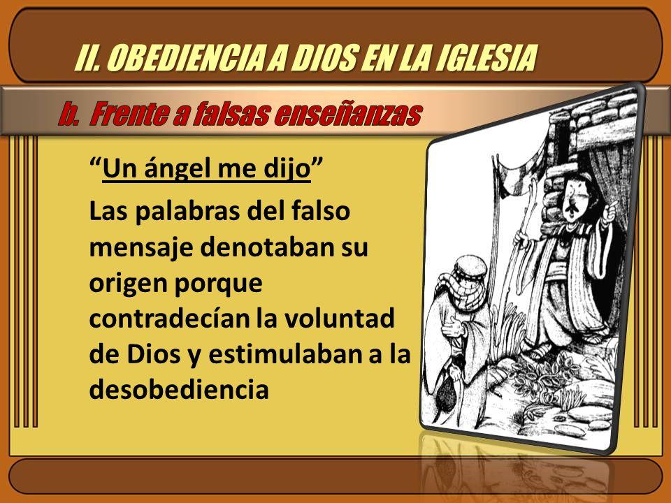 II. OBEDIENCIA A DIOS EN LA IGLESIA