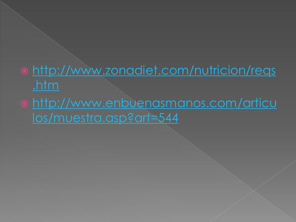 http://www.zonadiet.com/nutricion/reqs.htm http://www.enbuenasmanos.com/articulos/muestra.asp art=544.