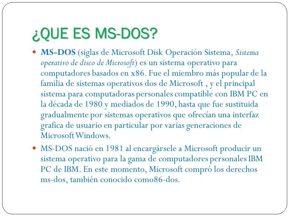 ¿QUE ES MS-DOS