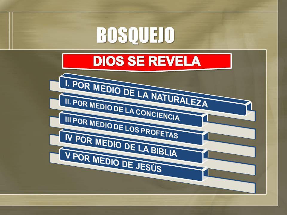 BOSQUEJO DIOS SE REVELA I. POR MEDIO DE LA NATURALEZA