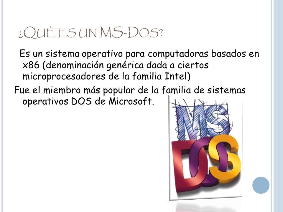 ¿Qué es un MS-Dos