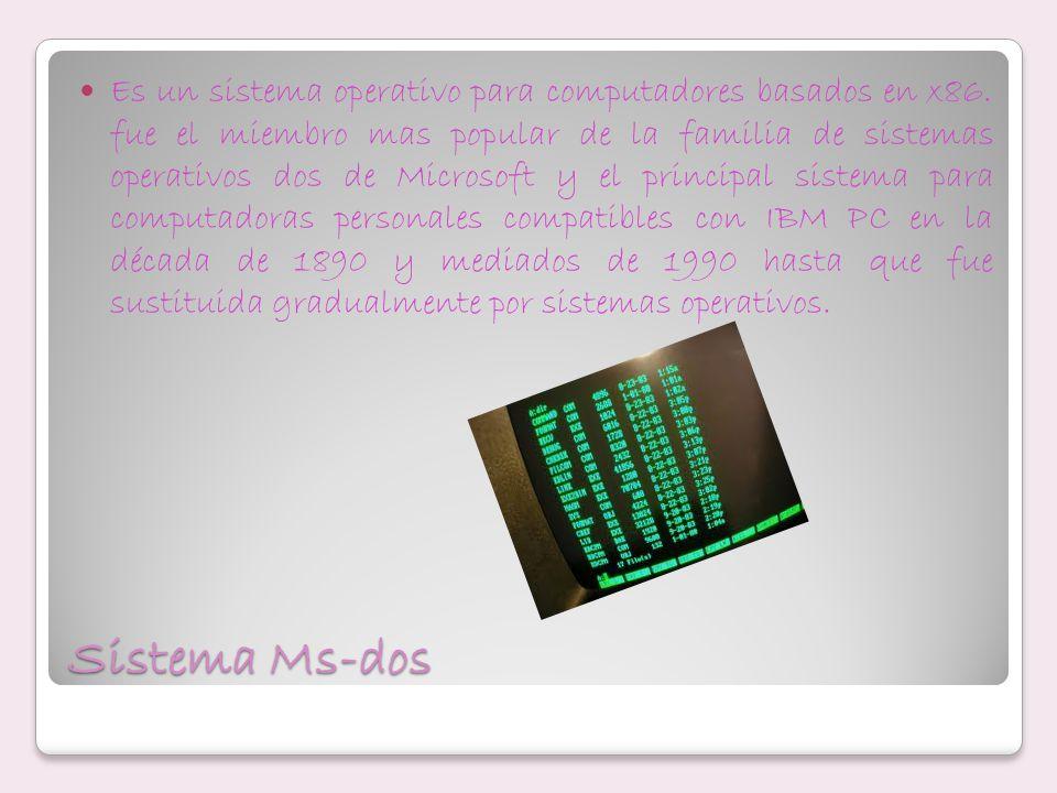 Es un sistema operativo para computadores basados en x86