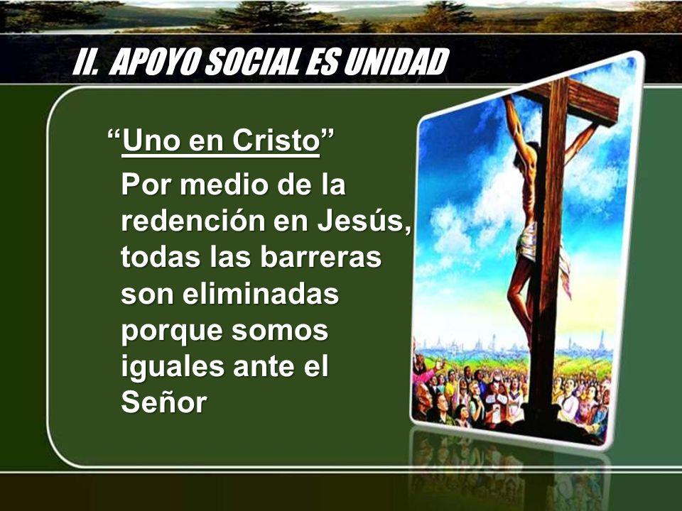 II. APOYO SOCIAL ES UNIDAD