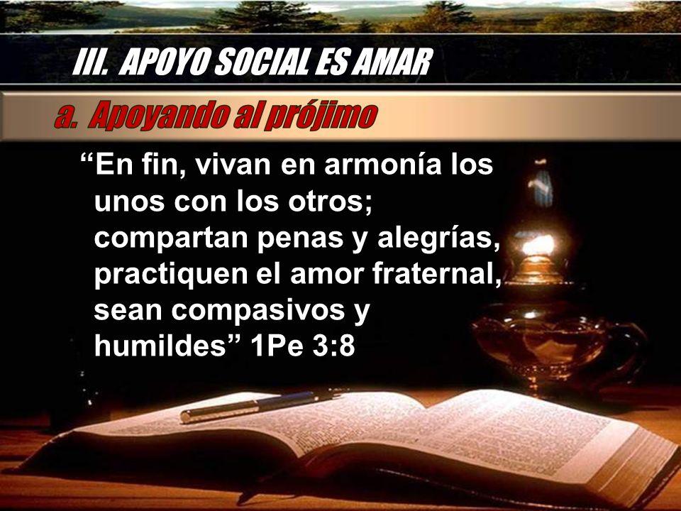 III. APOYO SOCIAL ES AMAR