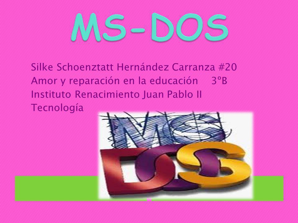 MS-DOS Silke Schoenztatt Hernández Carranza #20