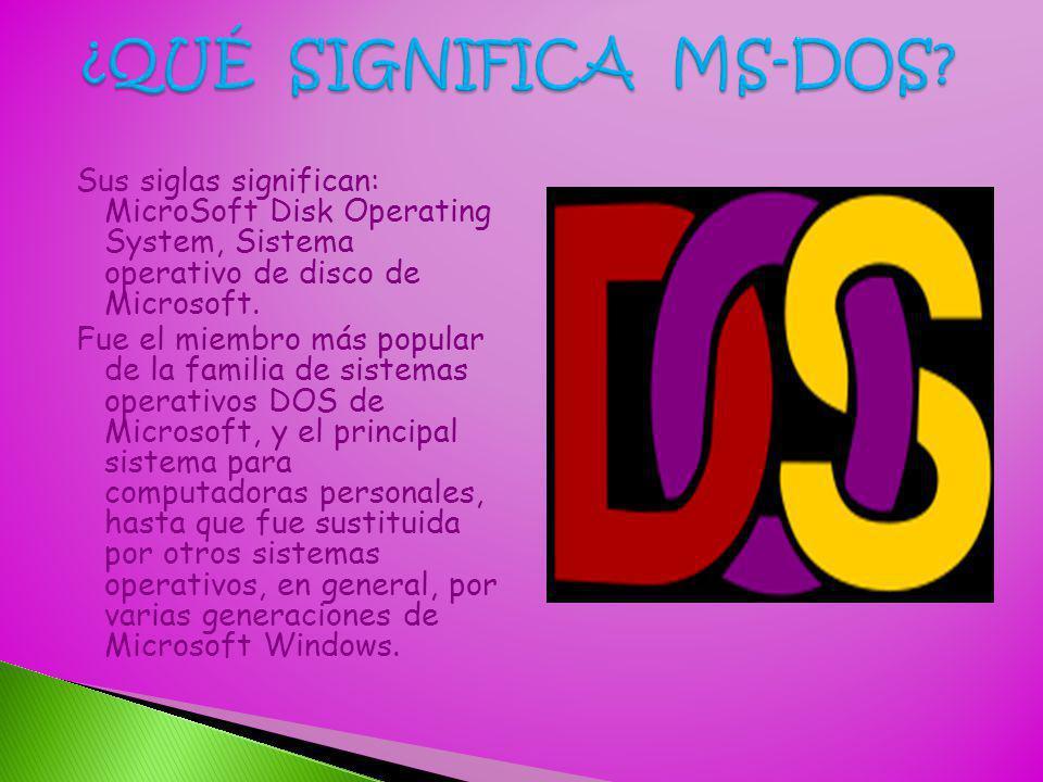¿QUÉ SIGNIFICA MS-DOS