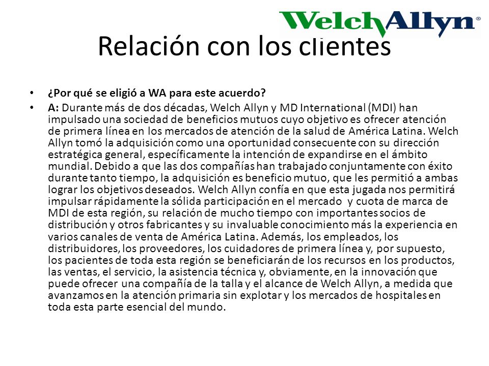 Relación con los clientes