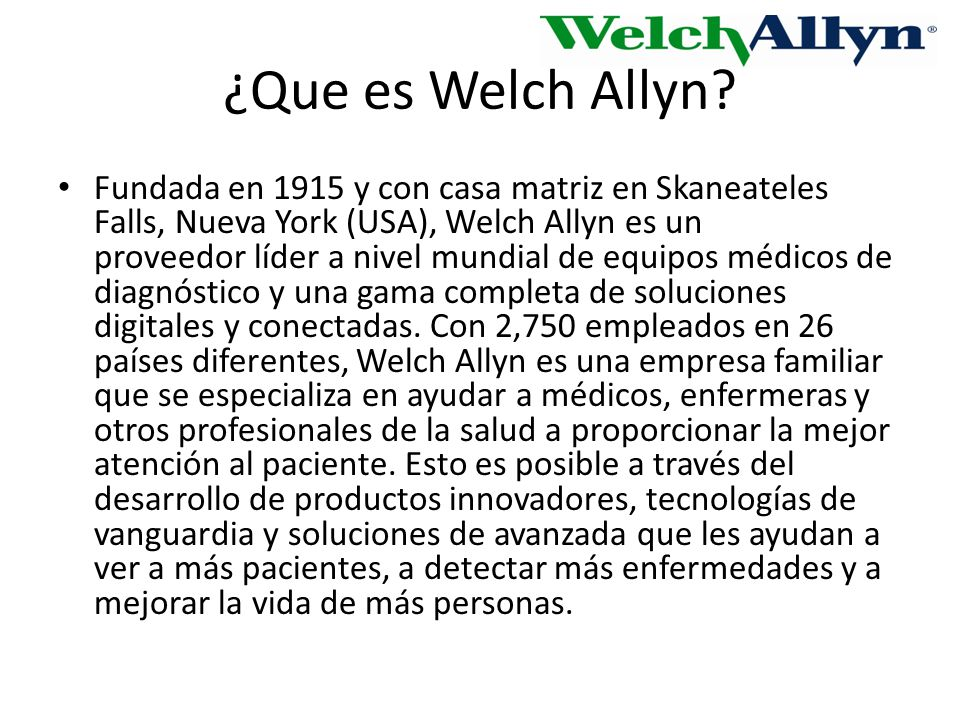 ¿Que es Welch Allyn