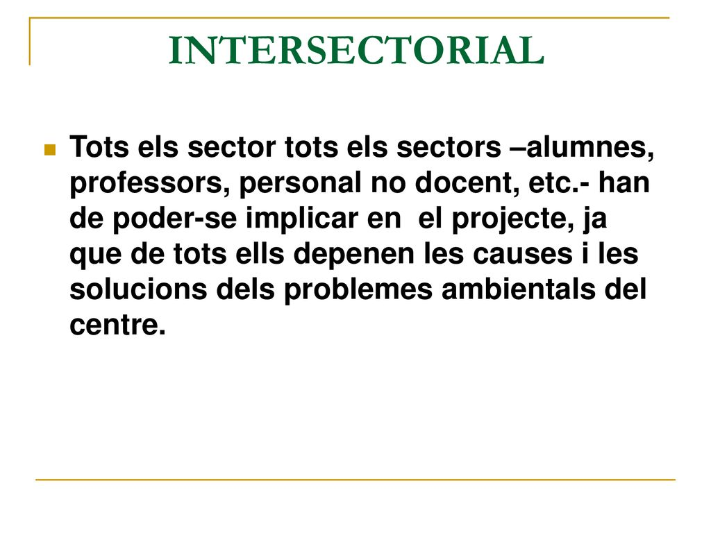 INTERSECTORIAL