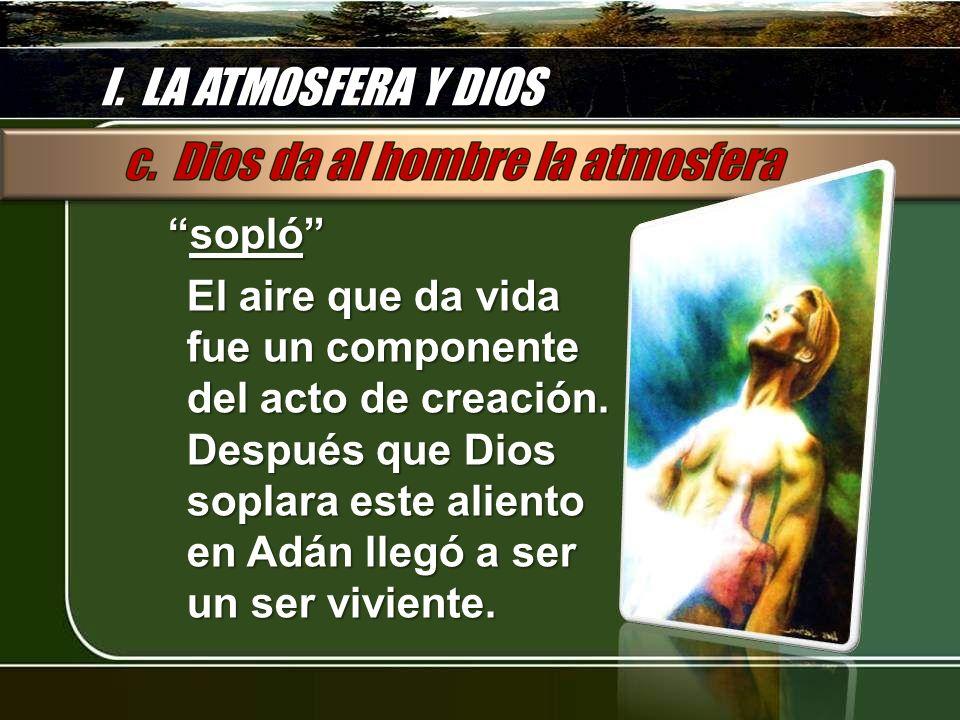 I. LA ATMOSFERA Y DIOS