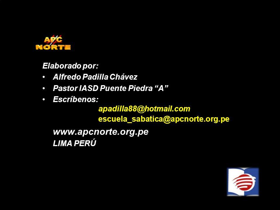 www.apcnorte.org.pe Elaborado por: Alfredo Padilla Chávez