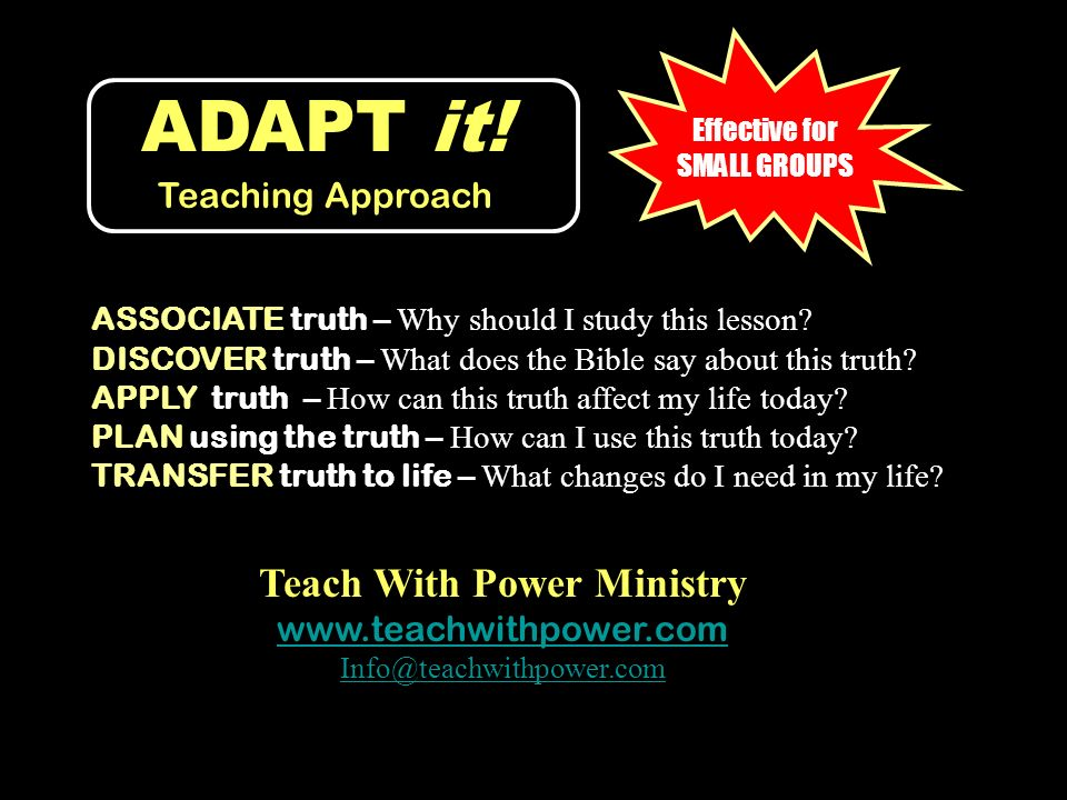 ADAPT it! Teaching Approach