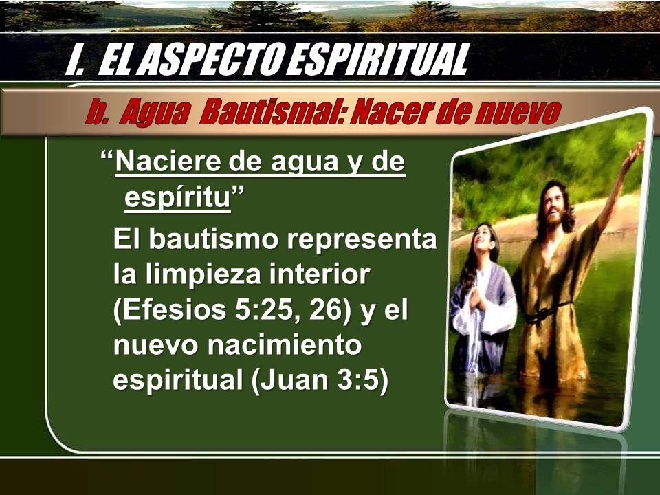 I. EL ASPECTO ESPIRITUAL