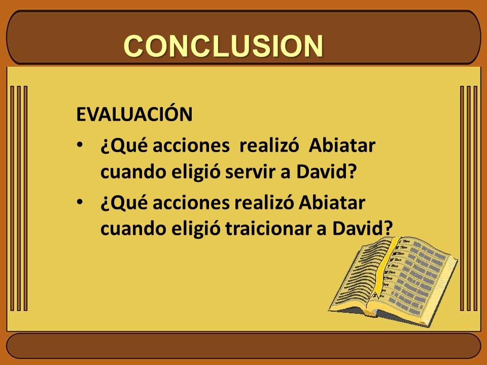 CONCLUSION EVALUACIÓN