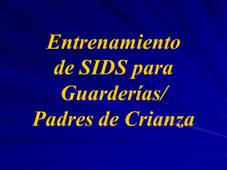 Entrenamiento de SIDS para Guarderías/ Padres de Crianza