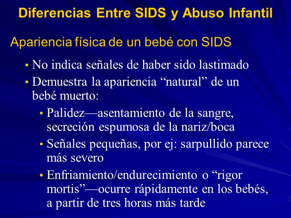 Diferencias Entre SIDS y Abuso Infantil