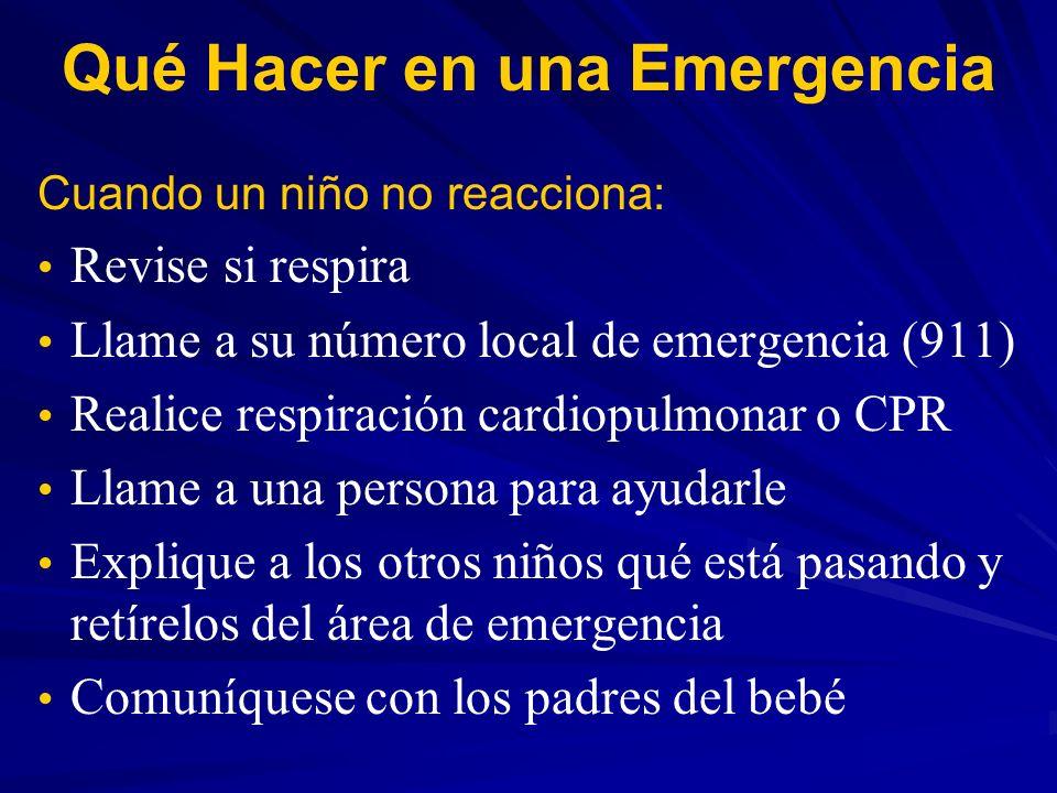 Qué Hacer en una Emergencia