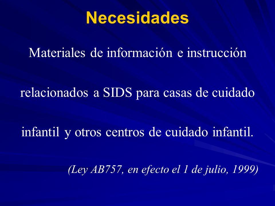 Necesidades Materiales de información e instrucción