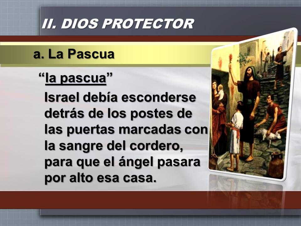 II. DIOS PROTECTOR a. La Pascua.