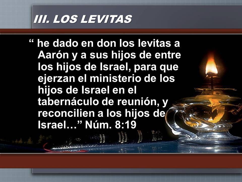 III. LOS LEVITAS