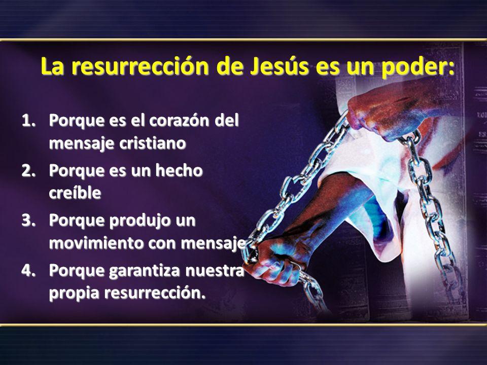 La resurrección de Jesús es un poder: