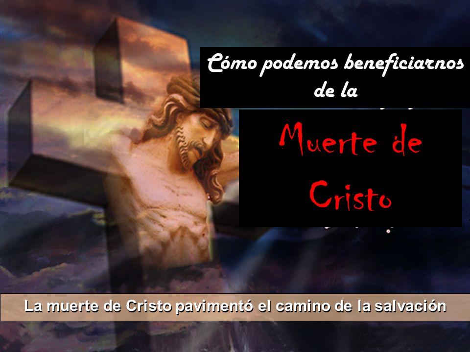 La muerte de Cristo pavimentó el camino de la salvación