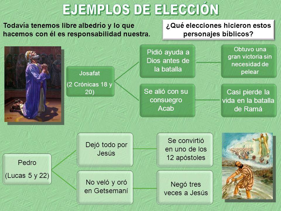 ¿Qué elecciones hicieron estos personajes bíblicos