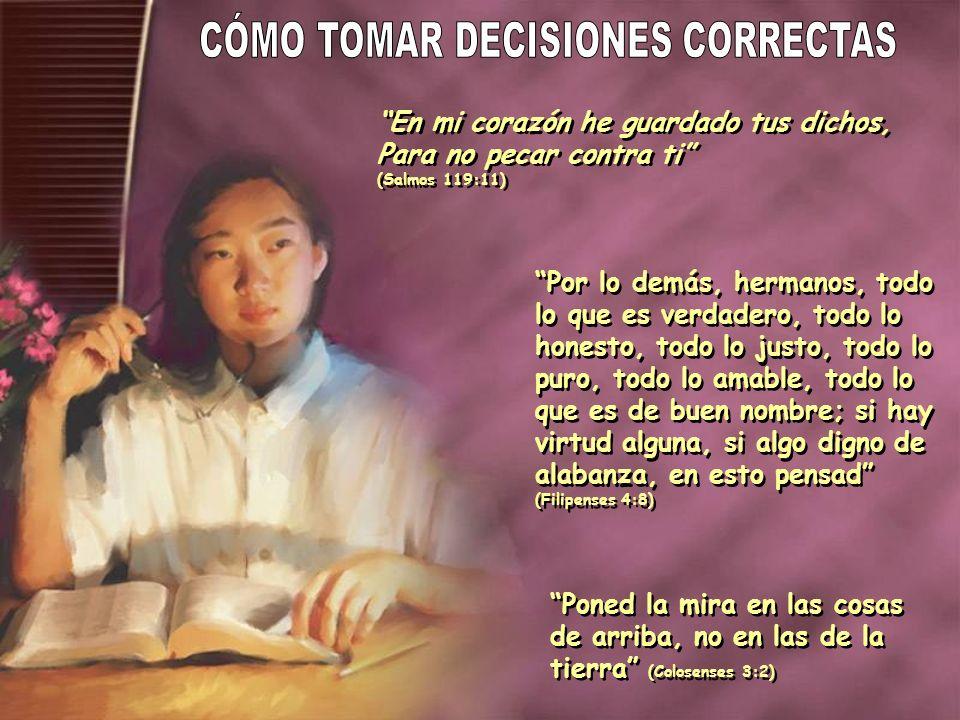 CÓMO TOMAR DECISIONES CORRECTAS