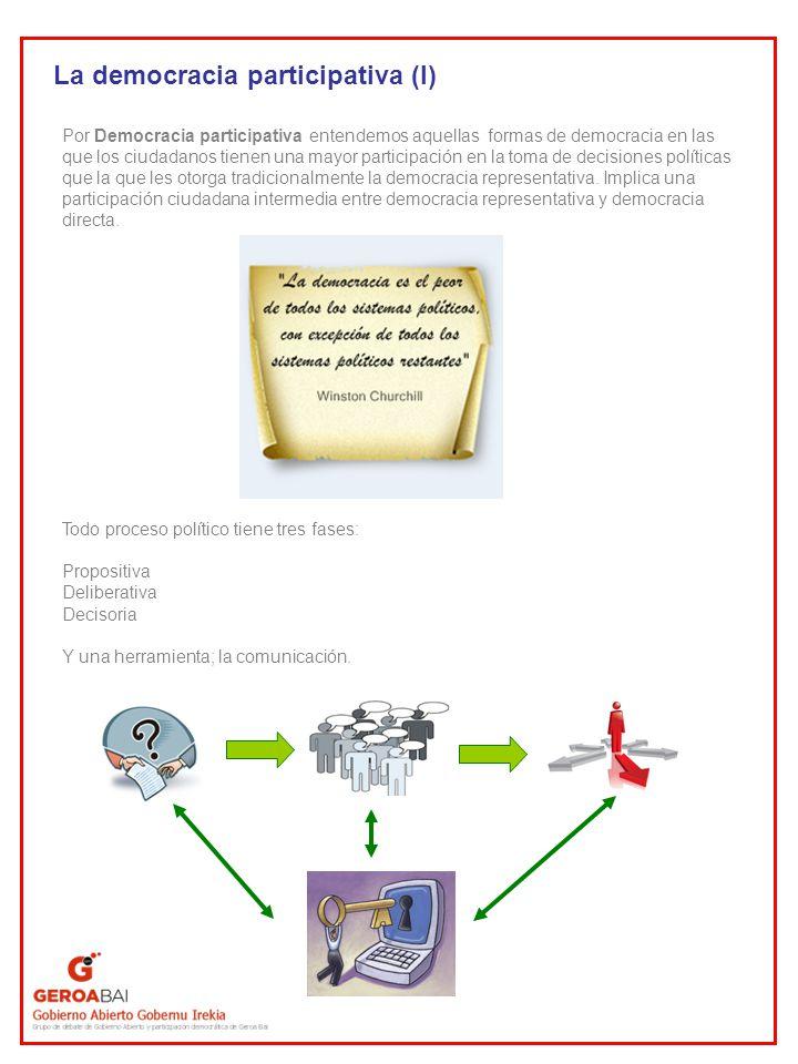 La democracia participativa (I)