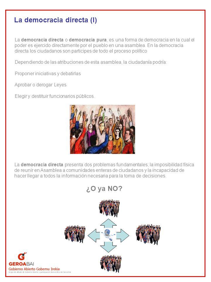 La democracia directa (I)