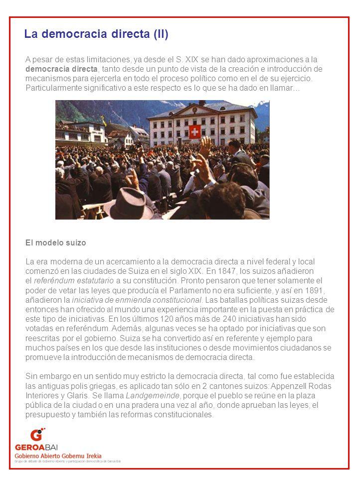 La democracia directa (II)