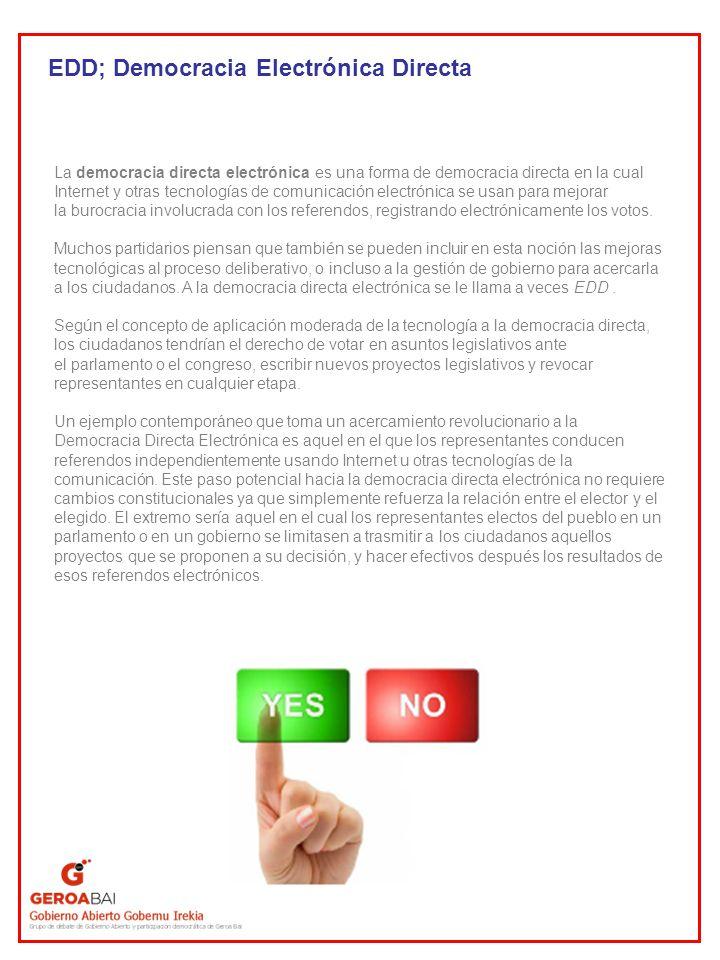 EDD; Democracia Electrónica Directa
