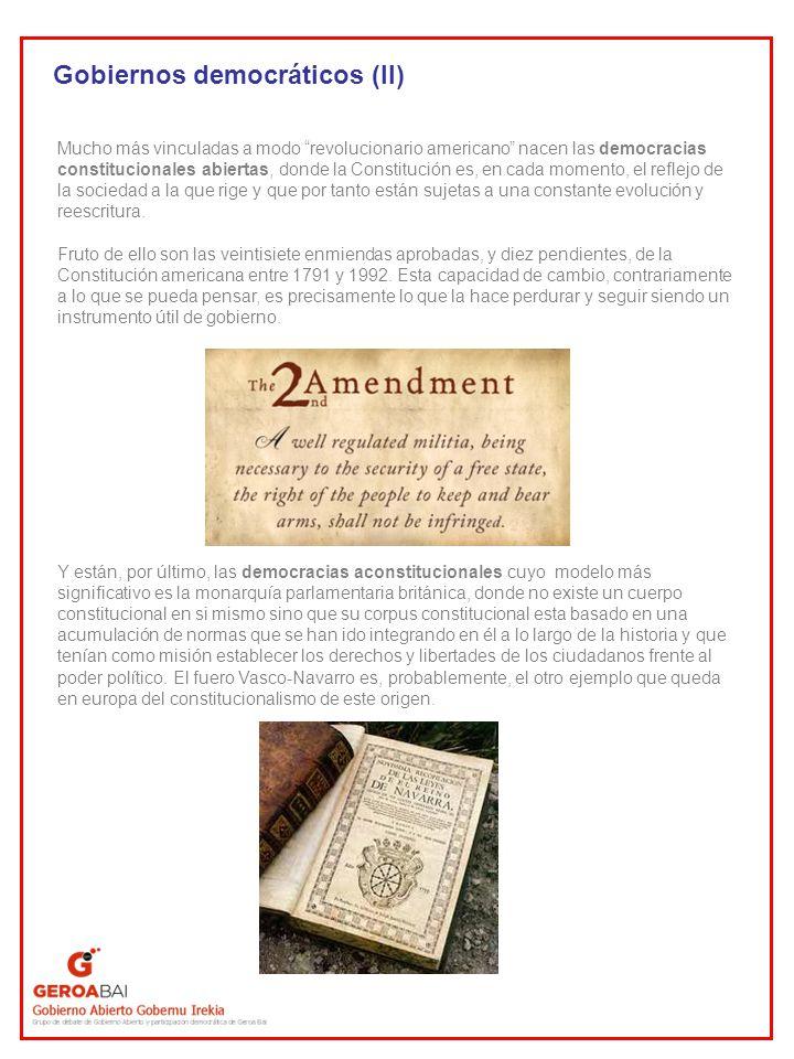 Gobiernos democráticos (II)