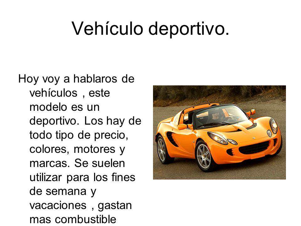 Vehículo deportivo.