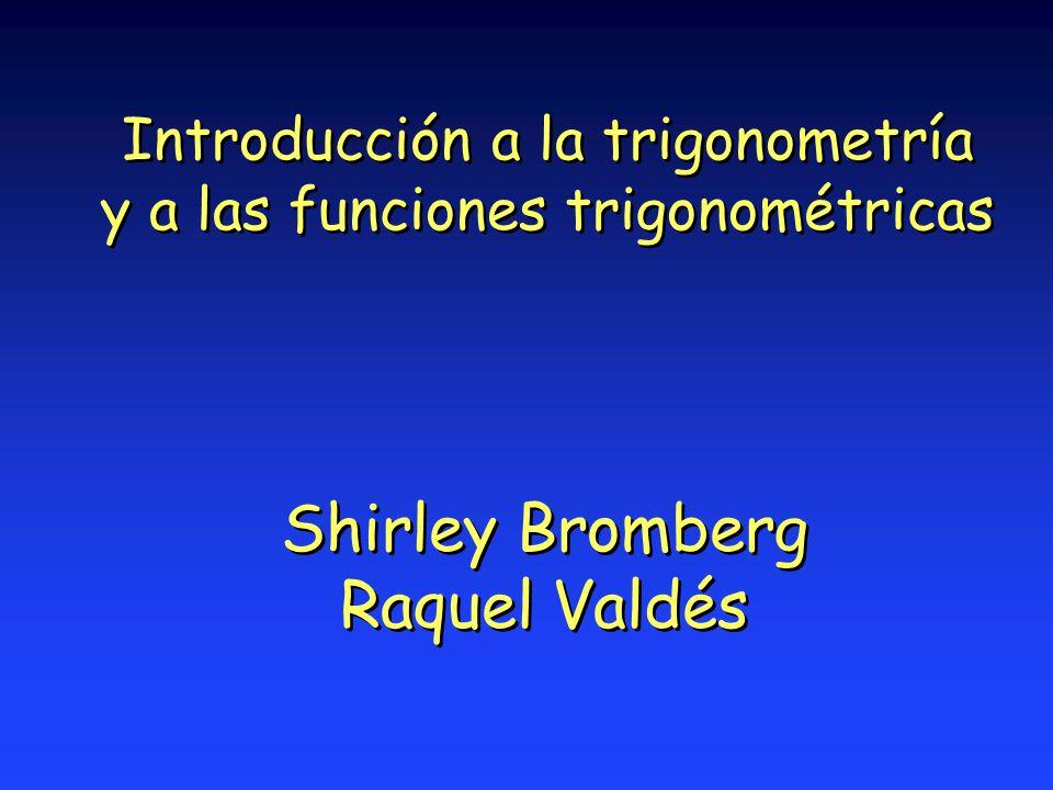 Introducción a la trigonometría y a las funciones trigonométricas