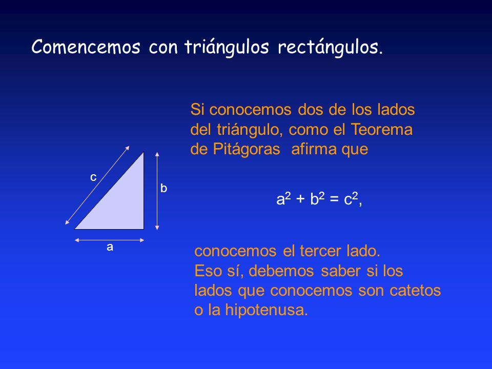Comencemos con triángulos rectángulos.