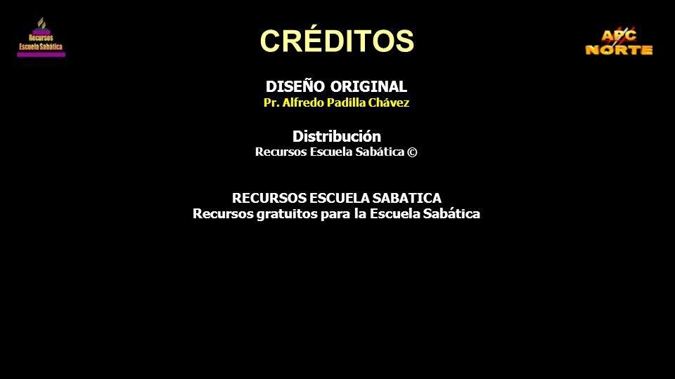 CRÉDITOS DISEÑO ORIGINAL Distribución RECURSOS ESCUELA SABATICA