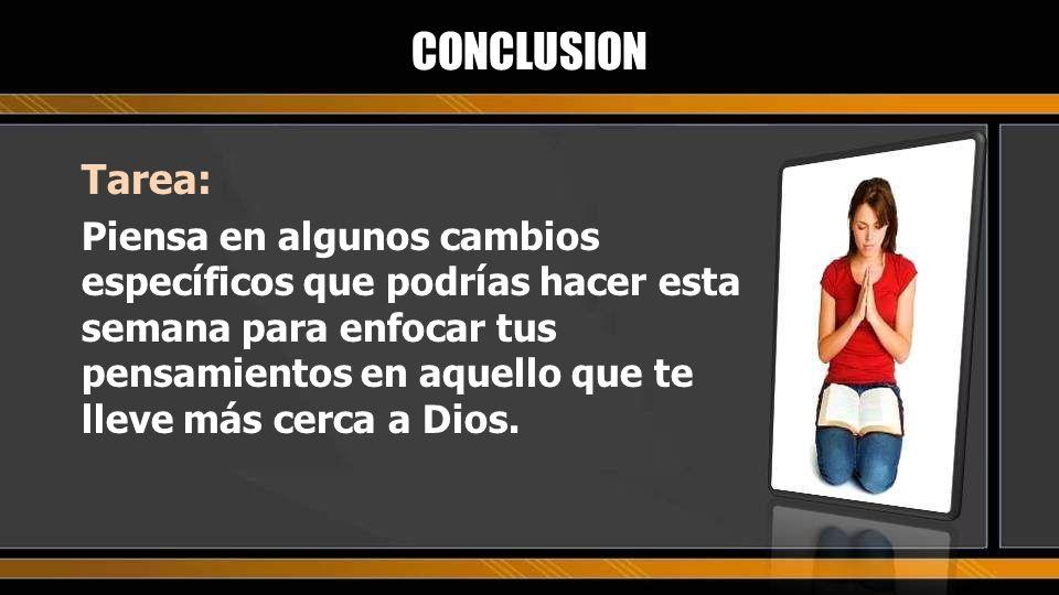 CONCLUSION Tarea: