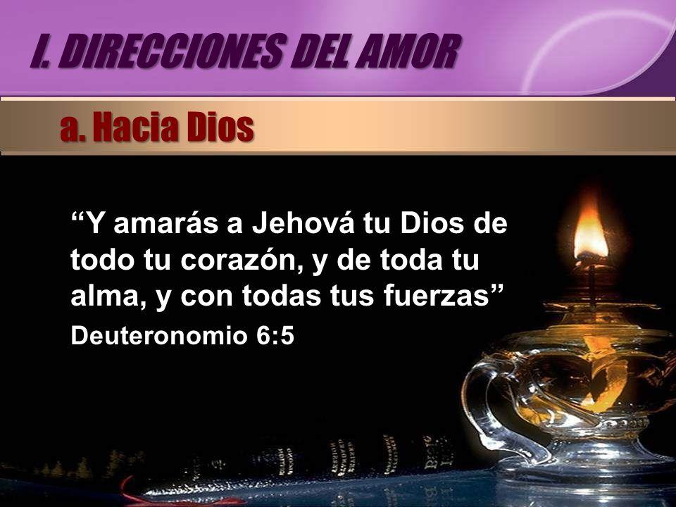 I. DIRECCIONES DEL AMOR a. Hacia Dios