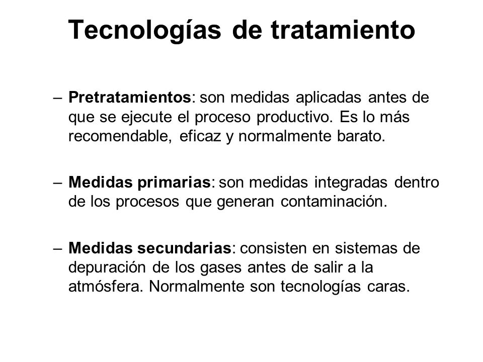 Tecnologías de tratamiento