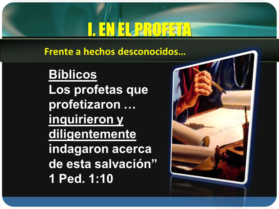 I. EN EL PROFETA Bíblicos