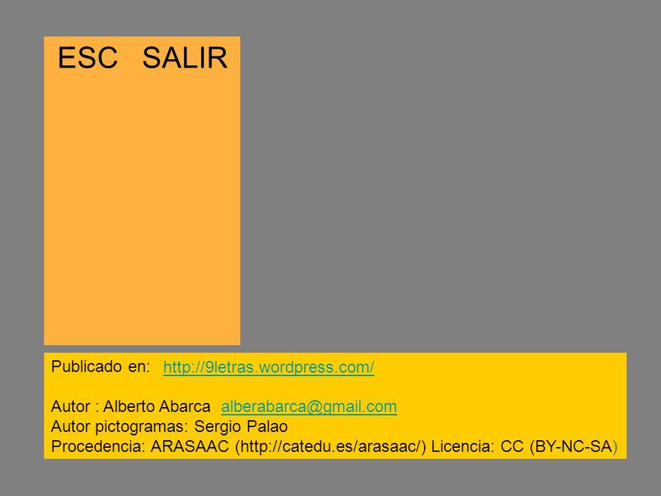 ESC SALIR Publicado en: http://9letras.wordpress.com/